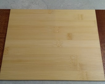 New Larger, Lighter BAMBOO CUTTING BOARD with Mahogany Bread Board Trim!
