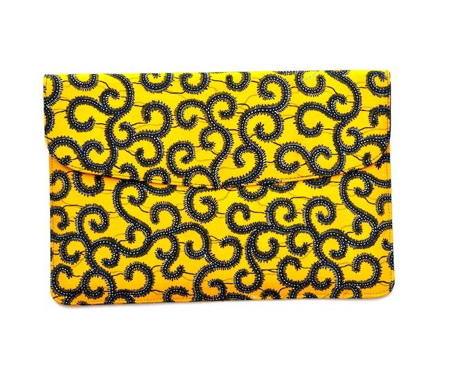 Yellow Spirals Laptop Sleeve