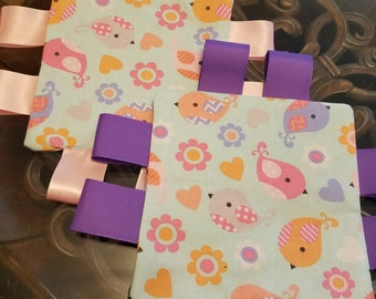 Mini spring tag blankets