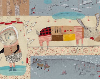 A4 Art print  Illustration- Fête de morts