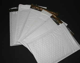 10 6x9 White Poly Bubble Mailers Size 0  Padded Self Sealing Shipping Envelopes