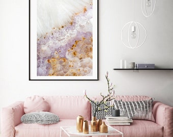 Mineral Photography - (Print #111)  Amethyst   - Mineral / Geode / Agate / Crystal Decor - Bohemian Home