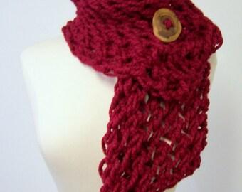 Grobstrick stricken Taste Schal In rot, große Strickschal Taste, Grobstrick Schal mit Button, Button-Schal in dunkles blaugrün, Herbst-Mode-Trends