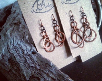 Double Infinity Earrings (Made from recycled metals)