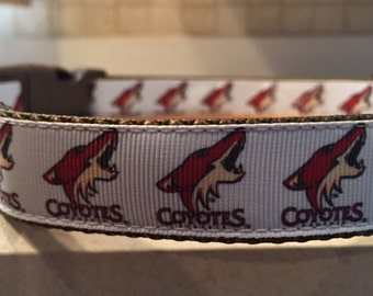 Phoenix Coyotes Large and Medium Dog Collar