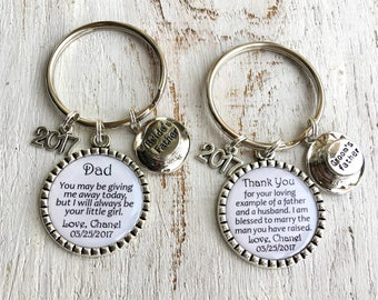 Father-of-the-Groom gift from Bride Father-of-the-Groom keychain Father-of-the-Bride Gift from Bride Father-in-Law Gift gift from Daughter