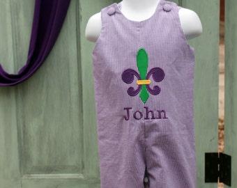 Mardi Gras Jon Jon, Fleur de Lis Jon Jon, Mardi gras outfit for boys