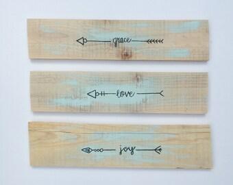 Boho Decor, Rustic Natural Wooden Arrows, Farmhouse Decor, Rustic Decor, Arrow Decor, Rustic Nursery Decor, Gallery Wall Decor, Wooden Arrow