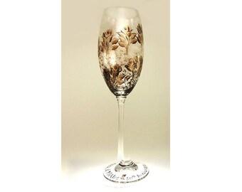 50th toasting flute etsy