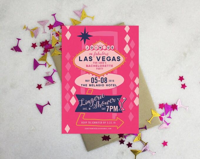 PRINTABLE Bachelorette Party Invitation   Vegas Baby