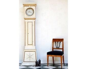 Antique grandfather clock, Denmark around 1850
