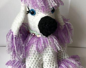 Large Crochet French Poodle dog