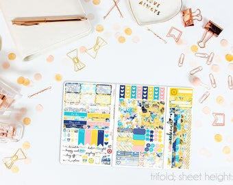 Bon Voyage TN POCKET Weekly Kit // 100+ Matte Planner Stickers // Perfect for your Pocket/Personal Traveler's Notebook // TNP0690