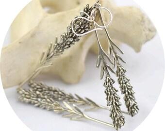 Lavender Earrings (White & Yellow Brass)