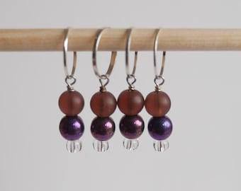 Stitch markers set of 4 purple