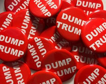 Dump Trump Pin Back Button