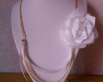 The Royal white wedding necklace