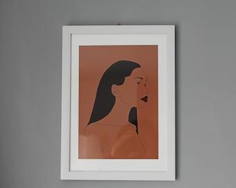 Brown Skin Lady - digital illustration