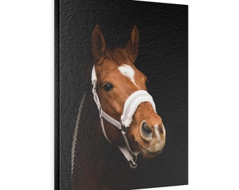 Horse Vertical Leather Gallery Wraps