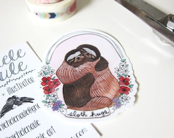 Sloths - Stickers - Sloth Stickers - Animal Stickers - Sloth Decals - Set of Three Stickers - Cute Stickers