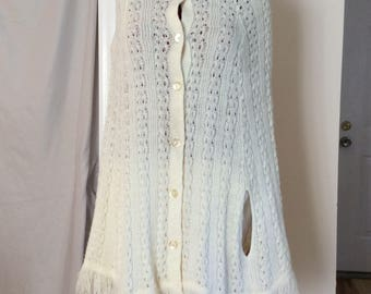 Crocheted Knit Sweater Shawl one size fits most