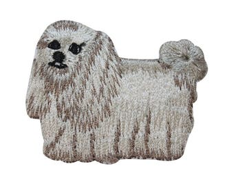 ID 2760 Shih Tzu Long Haired Dog Patch Puppy Breed Embroidered Iron On Applique