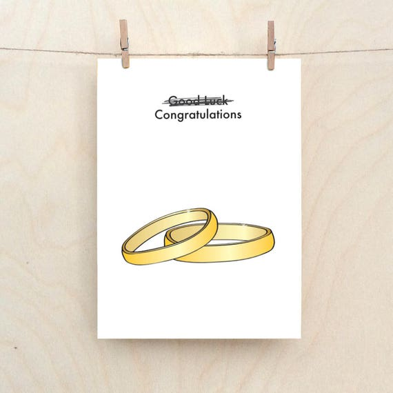 Funny Wedding, Funny engagement  card, funny card