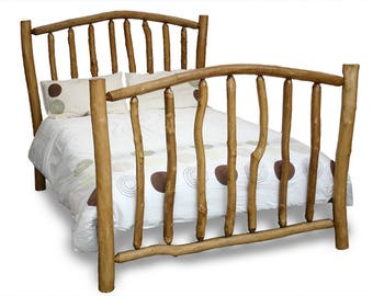 Rustic King Size Wooden Bed Ex Display