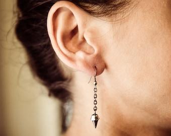 Sterling Silver Spike Earring-Single Dangle