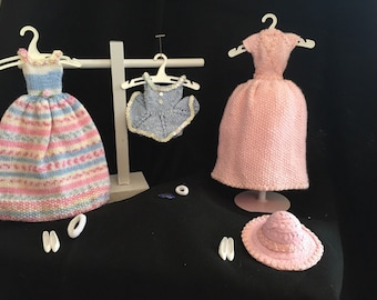 Barbie Hand-Knit Doll Clothes (Fairies & Flowers Set)