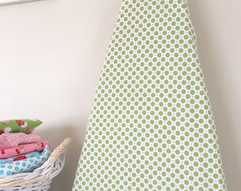 Ironing Board Cover - Circles in Green