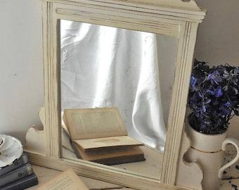 Antique mirror, painted mirror, distressed mirror
