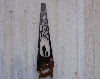 """Wall Art vintage hand saw...""""Old Friends"""""""