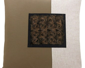 Veliarca Dark Square Classic Size Decorative Throw Pillow 16 x 16 inches