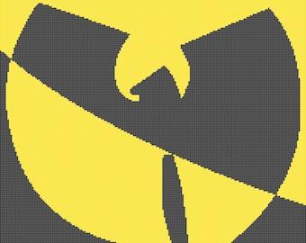Wu Tang Clan logo -- Counted Cross Stitch or Knitting Chart Patterns, 4 sizes!