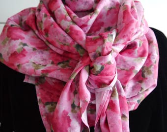 Laxi square scarf/shawl scarf - sparkling to wake up winter colors