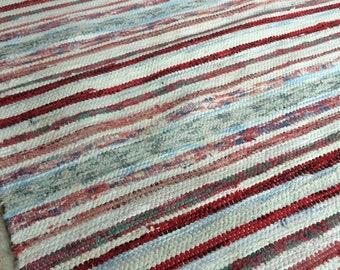 Vintage rag rug, antique rag rug, hand woven rag rug, farmhouse rug, country decor, hand woven rug, rug, antique rug, vintage floor covering