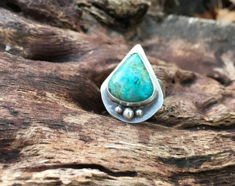 Sterling Silver Ring with Chrysocolla