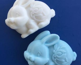 Bunny Soap - Easter Soap - Bunny Favor - Glycerin Soap - Easter Basket Filler - Eatser Gift -Spring Soap - Farm Animal Soap