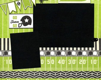 12x12 Premade Football Layout - Go Team Go