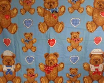 Teddy bears with Hearts large and small bears Wamutta Otc. Hallmark Cards Vintage and out of print