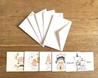 Mini illustrated greeting cards