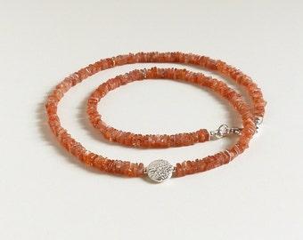 Sonnenstein gemstone jewelry gemstone jewelry Sunstone necklace chain
