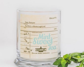 Mint Sweet Tea Scented Candle/ Inspired by To Kill a Mockingbird/ Part of North Ave Candles' Banned Books Collection / Book Candles
