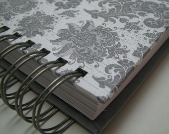Wedding Keepsake - Wedding Guest Book Alternative - Guest Address Book - Wedding Guest Address Book - Guest Book Idea - Gray Floral Damask