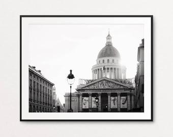 Paris Photography, Paris Pantheon, Paris Print, Paris Black and White, Paris Architecture, Paris Decor, Home Decor, Paris Wall Art