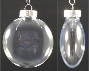 Pack of 10 - 80mm Clear Plastic Flat Disc Christmas Ornaments