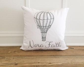Kids Bedroom Hot Air Balloon Pillow