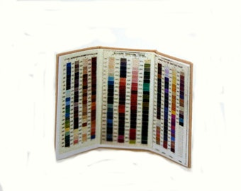 Silcarn Colour Chart ~ Dolls House Miniature ~ 12th Scale