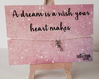 Cinderella Gift Fairy Charm Friendship Bracelet